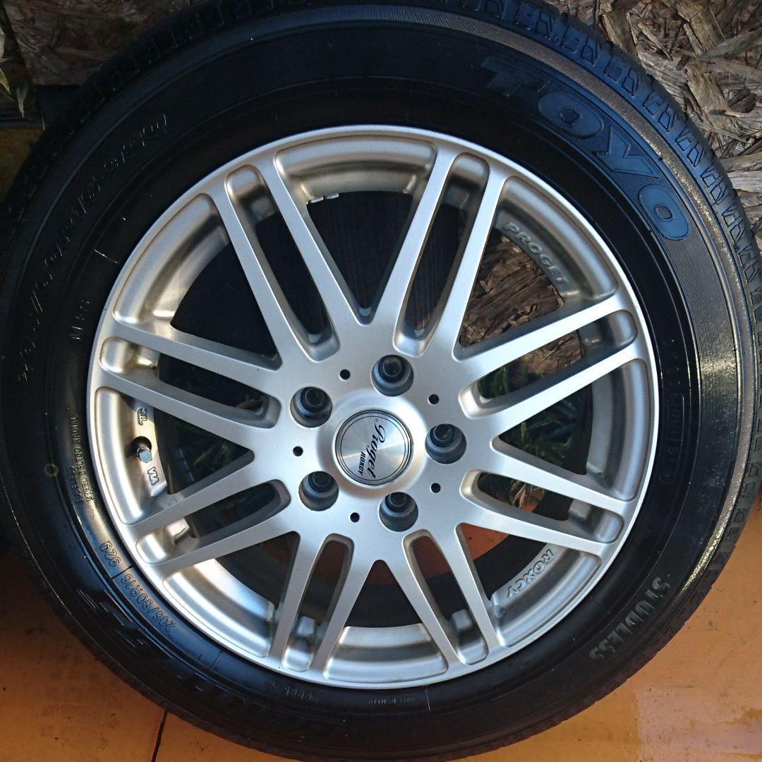 メルカリ アルミ proget roxcy 205 60r 16 スタッドレス付き タイヤ
