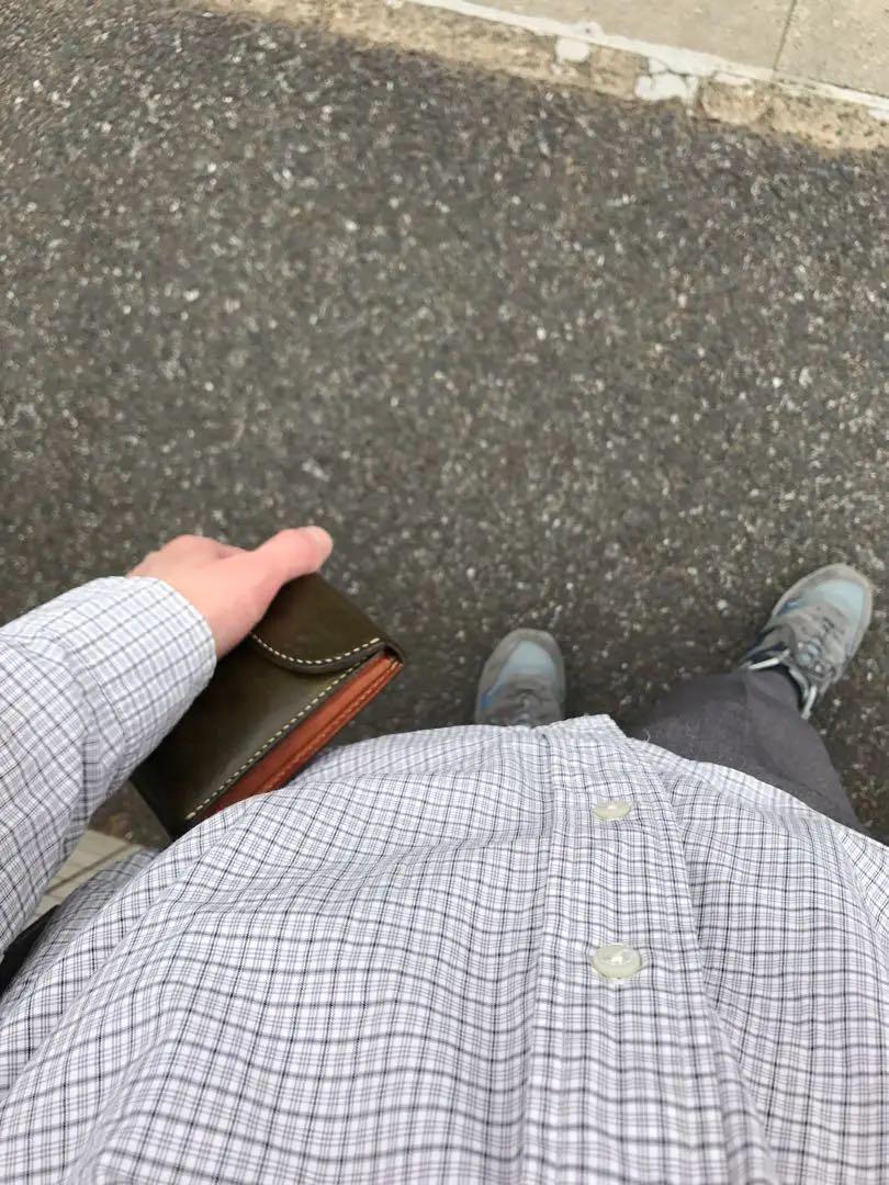 7caab3165c9a MOTO モト 【中古】 WALLET W-7 財布 テンペスティ社ベジタブルタンニンレザー 3つ折り