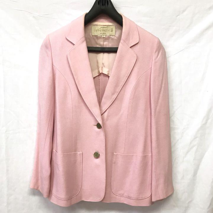 101757d5e199c 美品 ラピーヌ 春色 テーラードジャケット ピンクジャケット パステルカラー