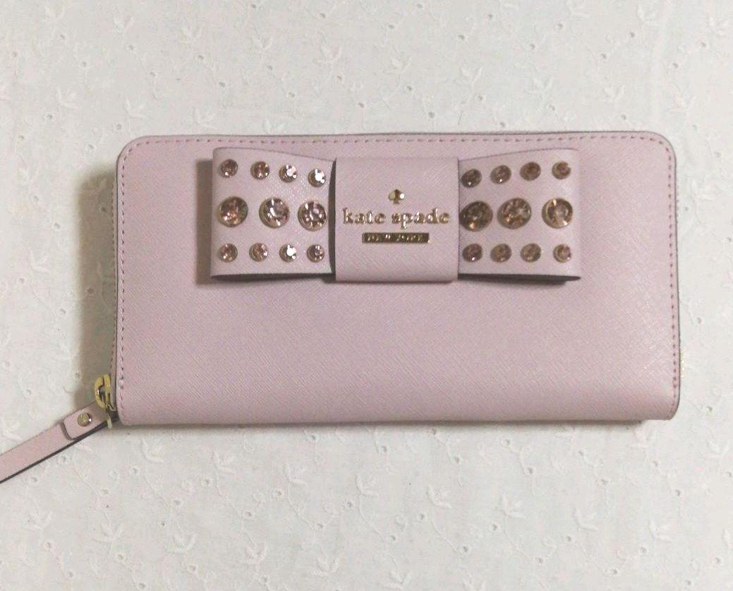 23140b0c3528 メルカリ - ケイトスペード kate spade 長財布 ピンク リボン ビジュー ...