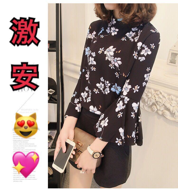 花柄ブラウス*秋服韓国ファッション