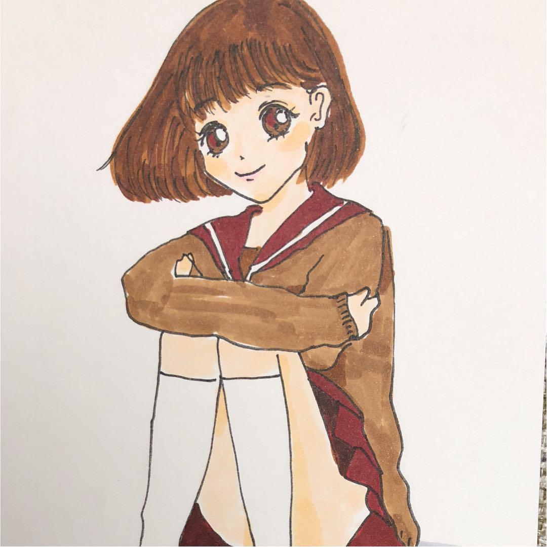 メルカリ - 可愛い 女の子 イラスト 【アート/写真】 (¥555) 中古や未