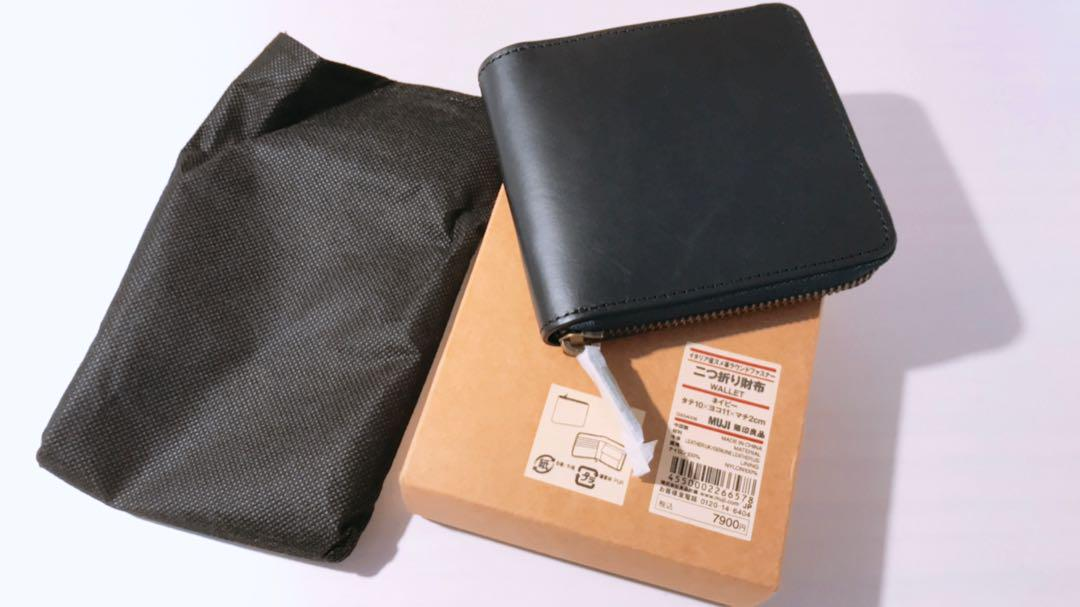 b351b9a8a5d1 メルカリ - 新品⭐ 無印 イタリア産ヌメ革 ラウンドファスナー 二つ折り ...