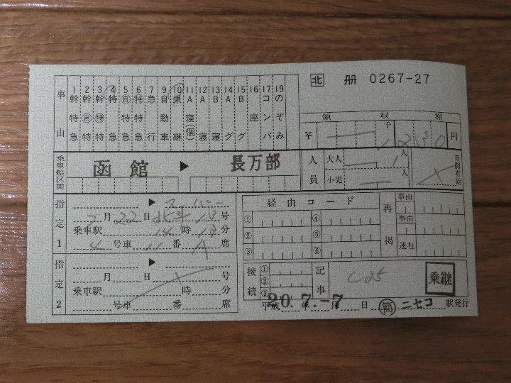 メルカリ - 出札補充券(ニセコ...