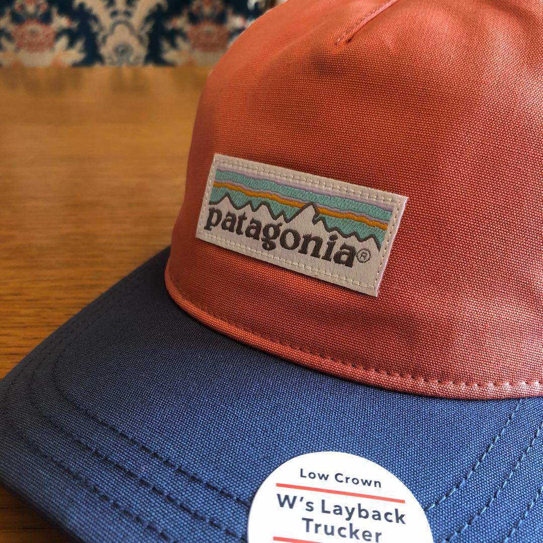 Patagonia Womens Pastel P-6 Label Layback Trucker Hat  (Quartz Coral ... f130b871b39a