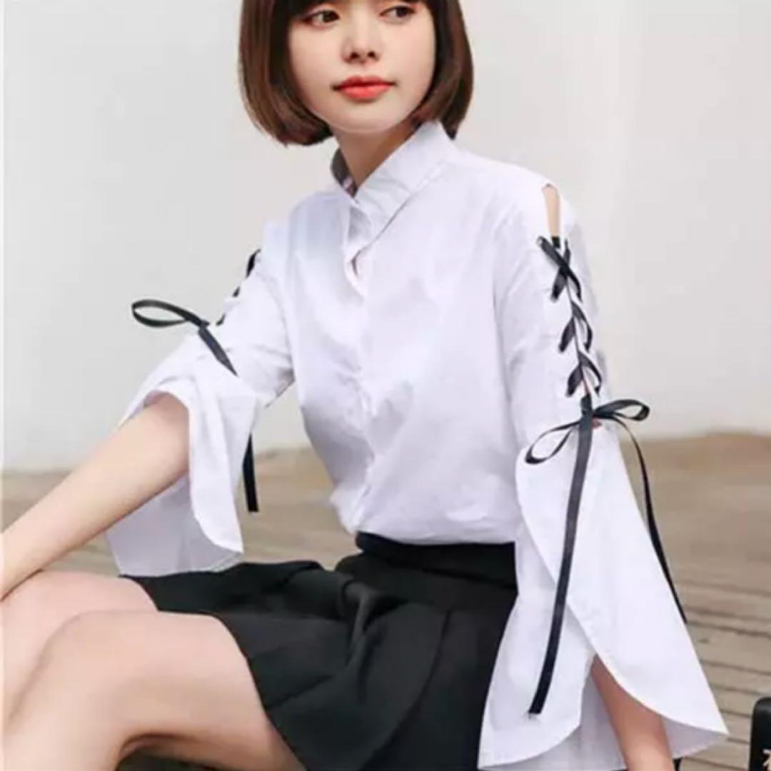 オルチャン 韓国ファッション ブラウス