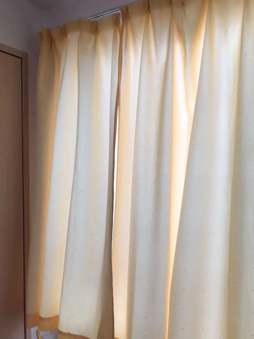 メルカリ - カーテン カネモト レース 布カーテン 窓 スクリーン 黄色