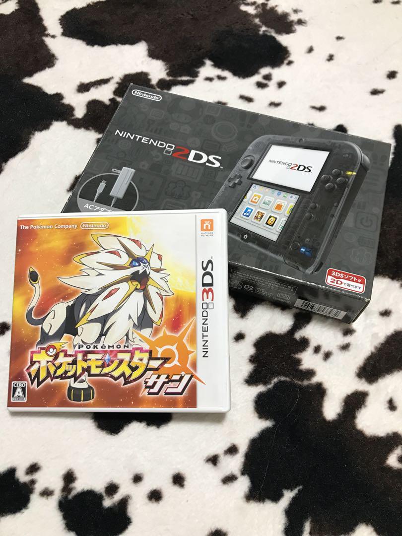 メルカリ - nintendo 2dsクリアブラック➕ポケモン(サン) 【携帯用ゲーム