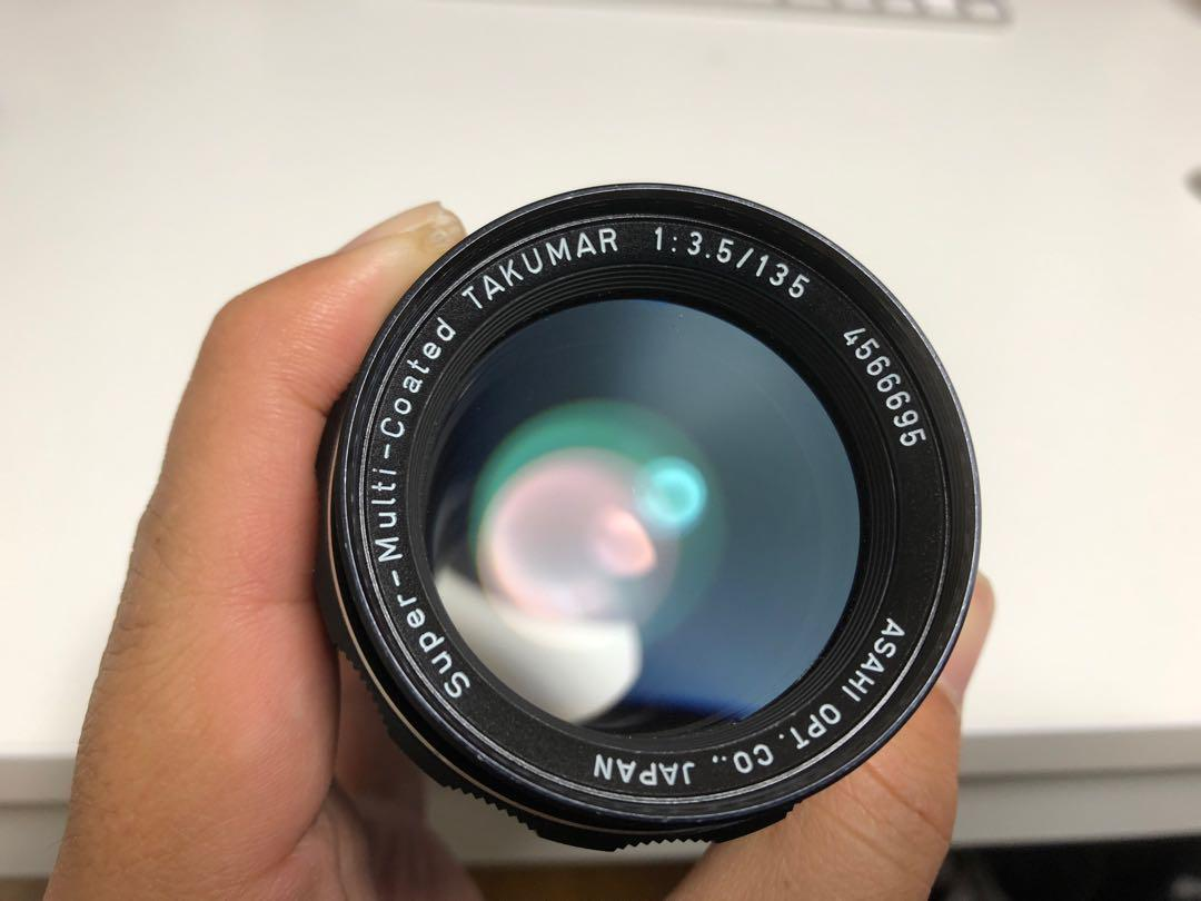 メルカリ 美品 pentax smc takumar 135mm f3 5 レンズ 単焦点