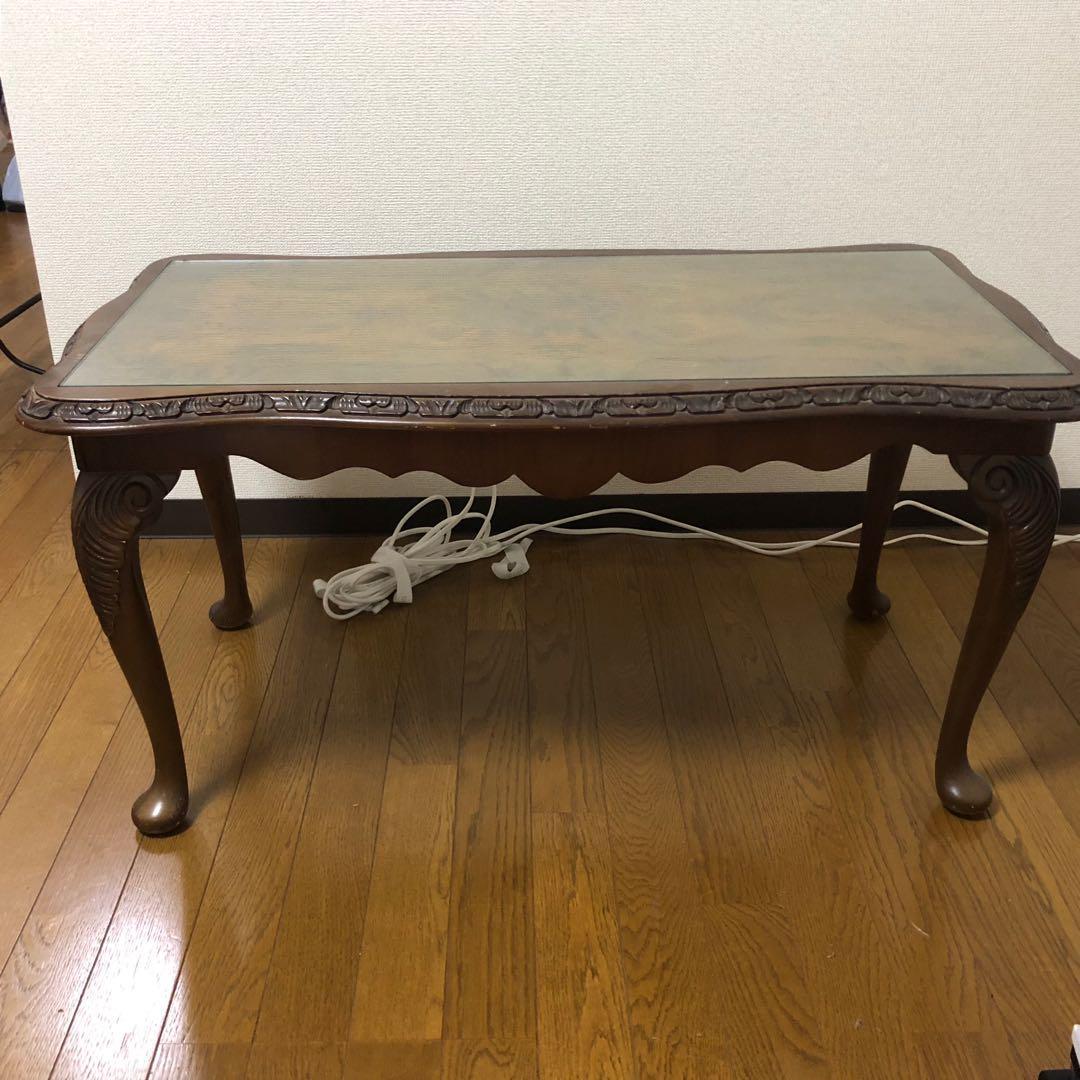 メルカリ - イギリス アンティーク テーブル 猫脚 【センターテーブル