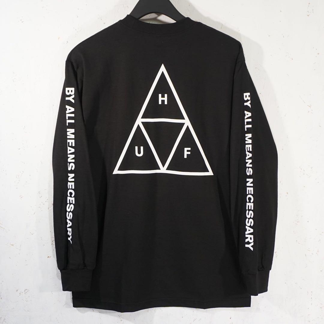 メルカリ reazon huf triangle ロングtシャツ sサイズ ブラック t