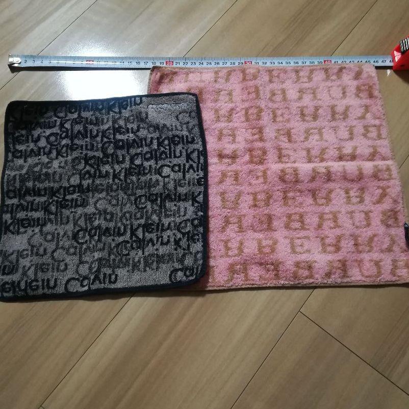 ノーリー☆様専用 バーバリー、カルバン・クライン タオルハンカチ2枚セット