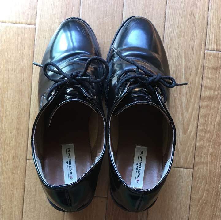 しまむら HK WORKS LONDON 黒の靴 LLサイズ