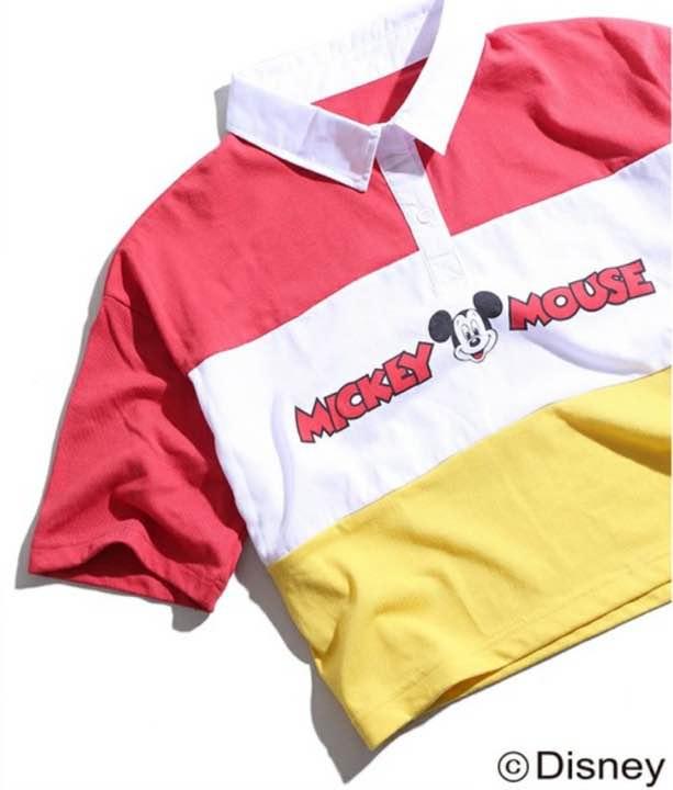 WEGO ラガーシャツ ミッキー