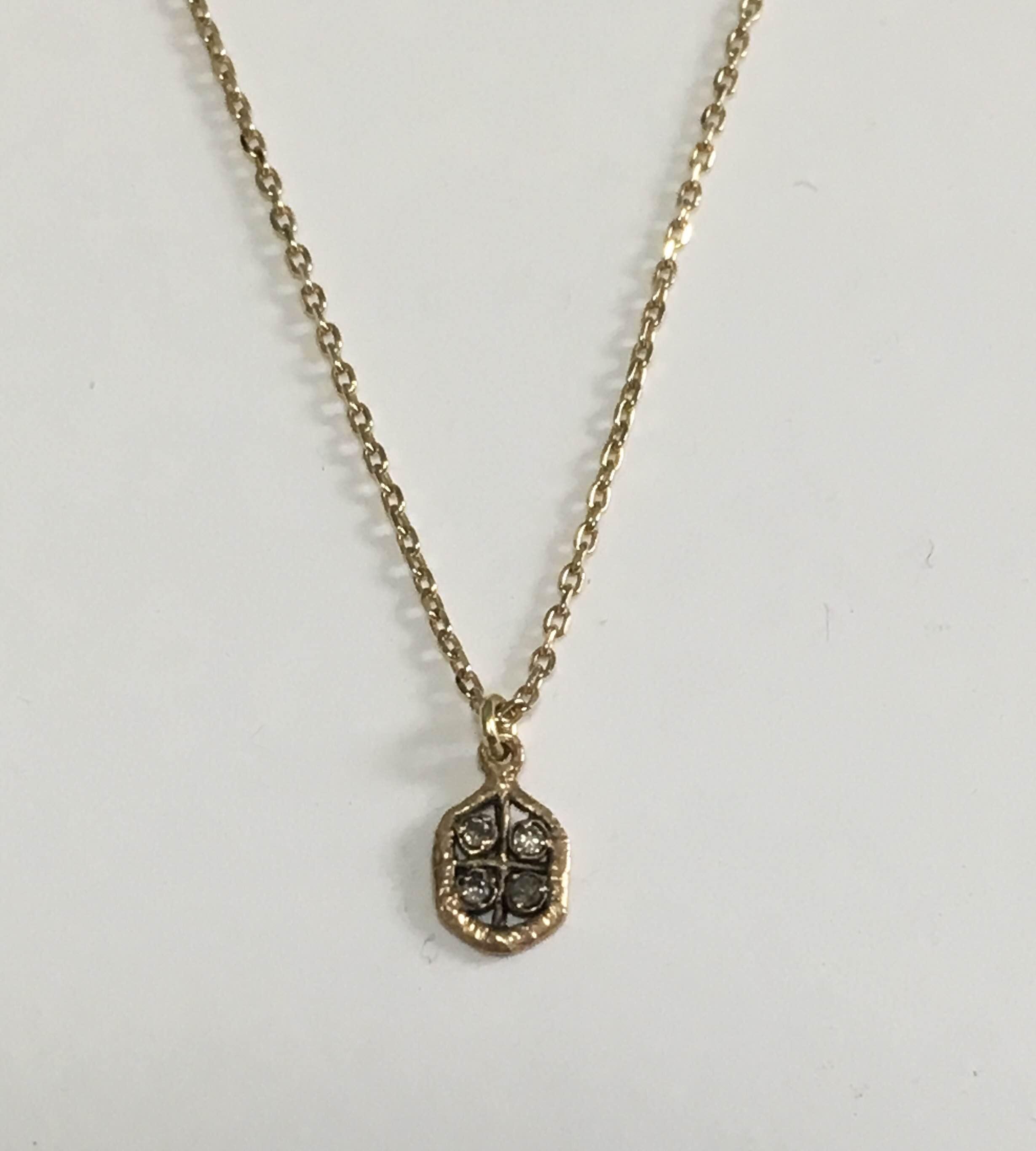 ⚫︎noguchi bijoux ⚫ ブラウンダイヤネックレス