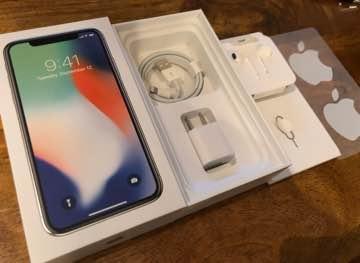 iPhone X 新品未使用♡正規品 箱 充電器 イヤホン シール 付属品