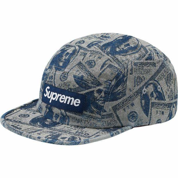 supreme 100 dollar bill camp cap blue supreme 100 dollar bill camp cap blue voltagebd Choice Image
