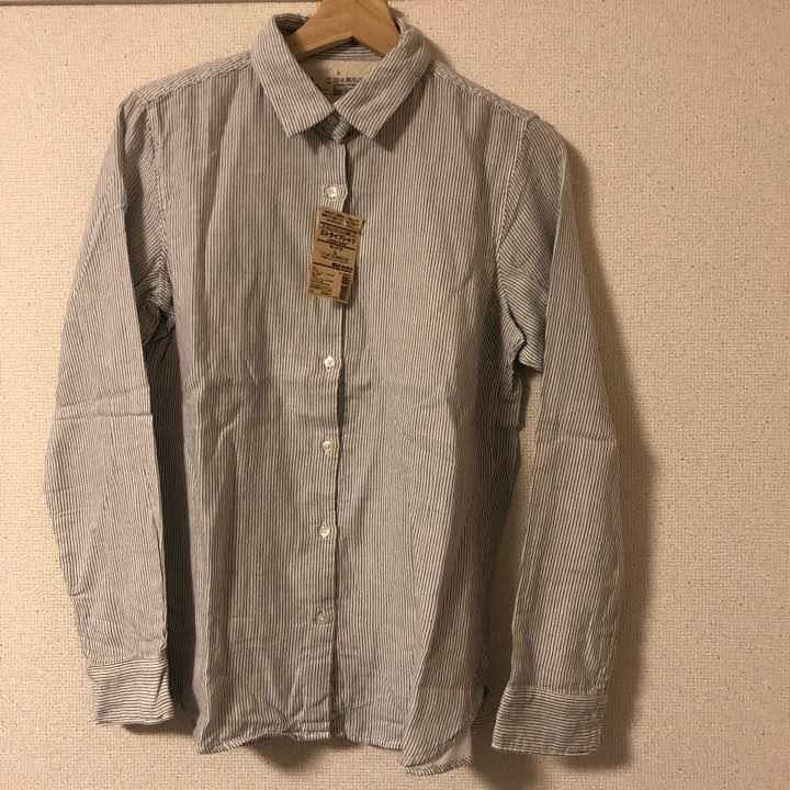 新品☆無印良品 ストライプシャツ