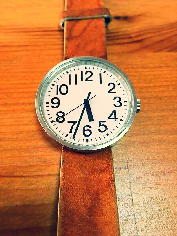 無印良品 公園の時計 自動巻き ブラック ミドルサイズ
