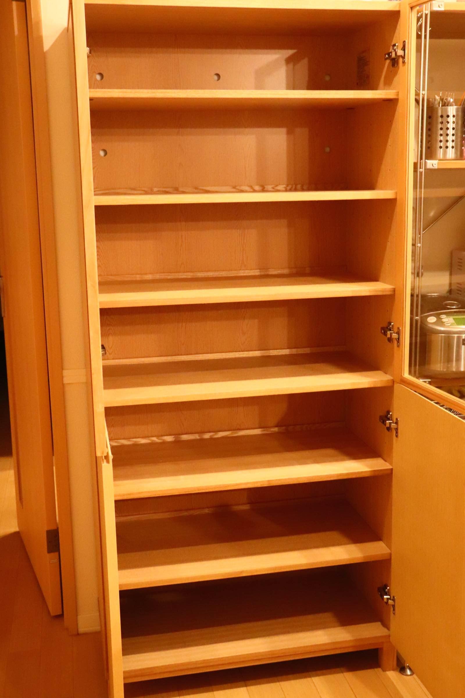無印良品 MUJI / タモ材 食器棚 カップボード キャビネット ガラス扉 ♪
