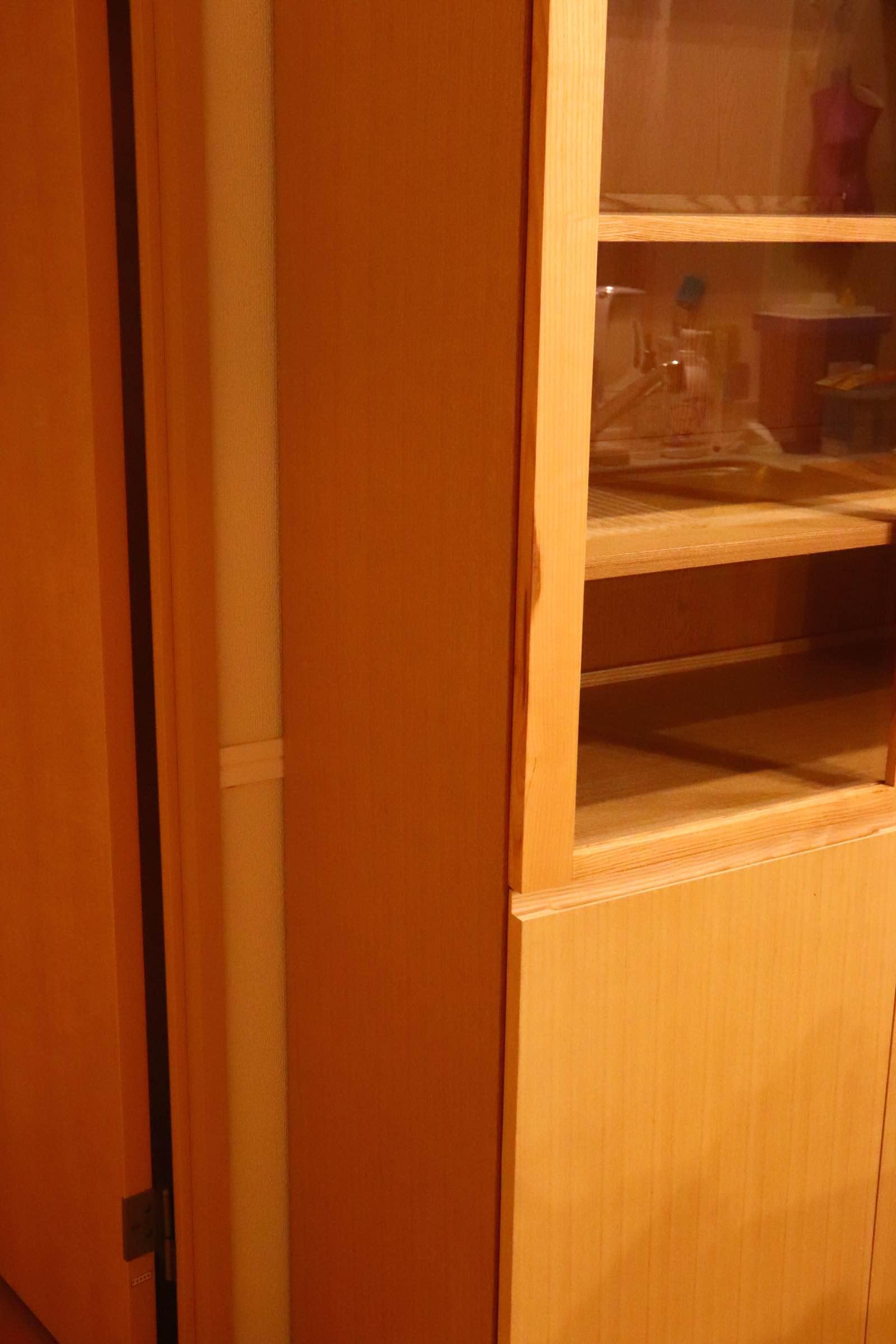 無印良品 MUJI オーク材 食器棚 サイドボード キャビネット 幅80 中古 美品