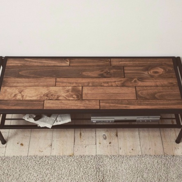 industrial pine wood tv av board 120cm. Black Bedroom Furniture Sets. Home Design Ideas