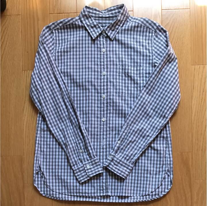 無印良品 オーガニックコットンフランネルチェックボタンダウンシャツ 紳士・白 2,980円()