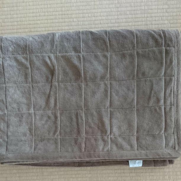 無印良品 綿平織洗えるキルティングラグ ブラウン 140×195cm