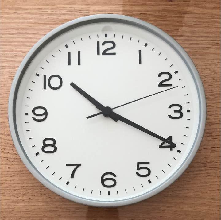 無印良品 アナログ時計・大 掛時計・シルバー