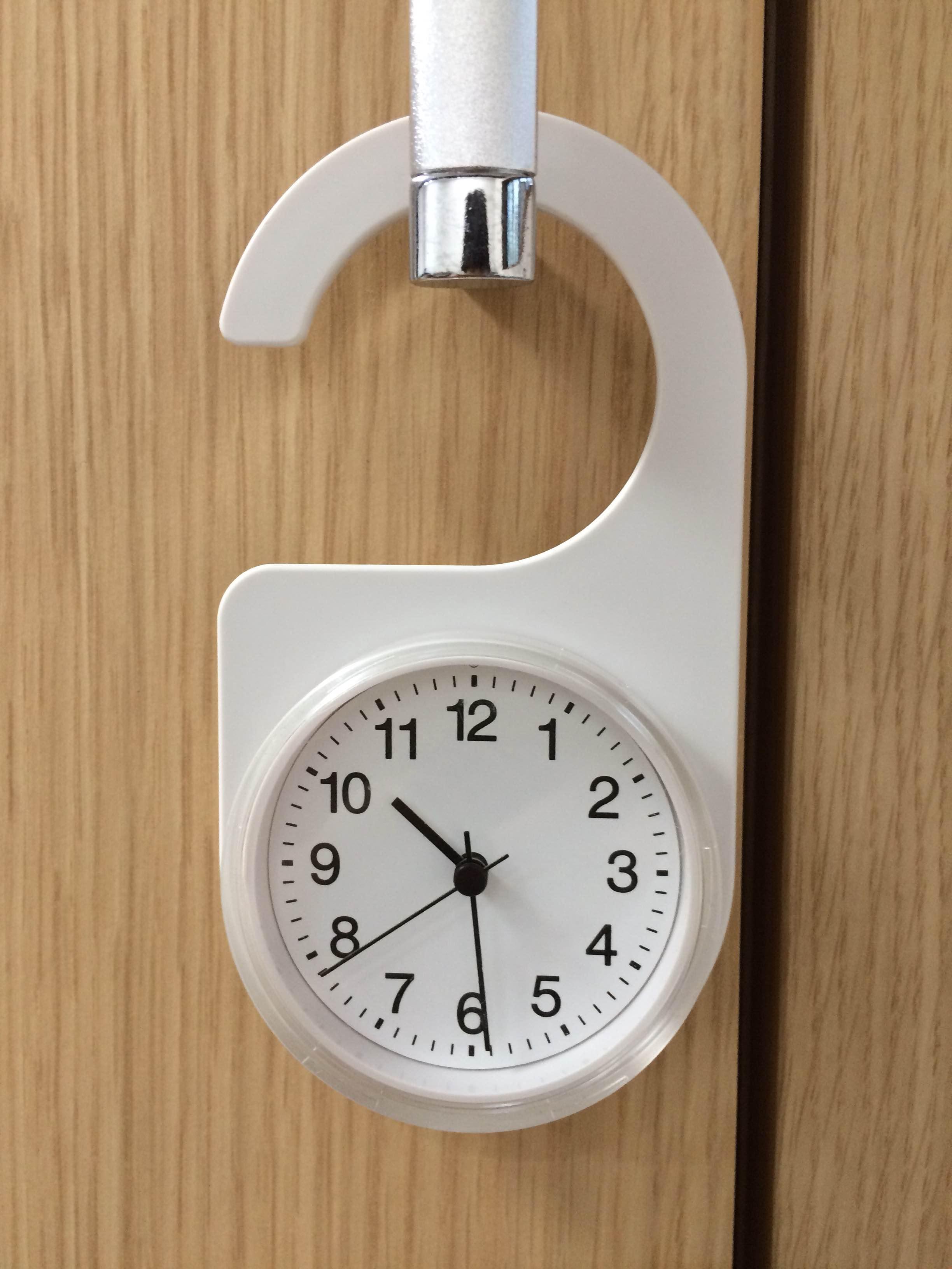 セイコークロック キッチン&バスクロック タイマー機能付き 掛置兼用クオーツ置き時計 薄青