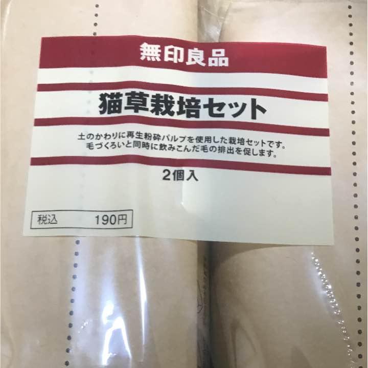 200円で買える無印良品の猫草栽培セットが猫たちに大人気!