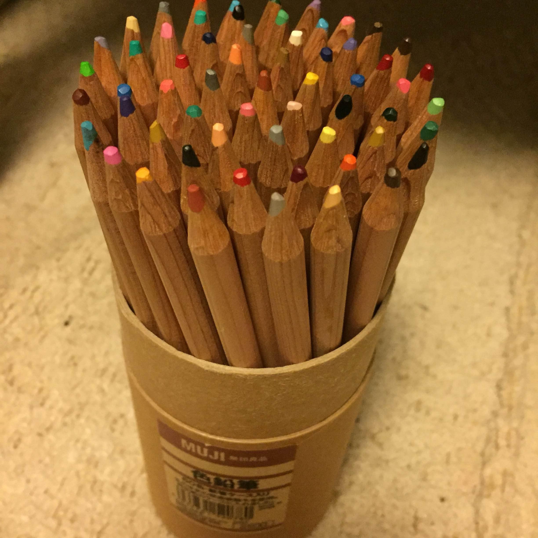 無印良品 色鉛筆 60色・紙管ケース入り