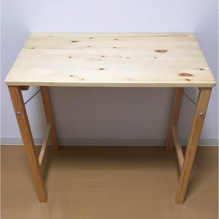 無印良品のパイン材折りたたみ式テーブル&ユニットシェルフ キッチン周りの収納&作業用に | dodolife