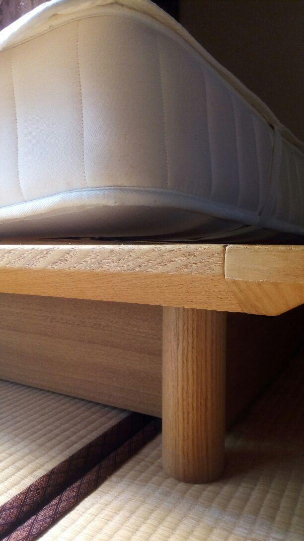 無印良品シングルサイズマットレスすのこベッド収納付