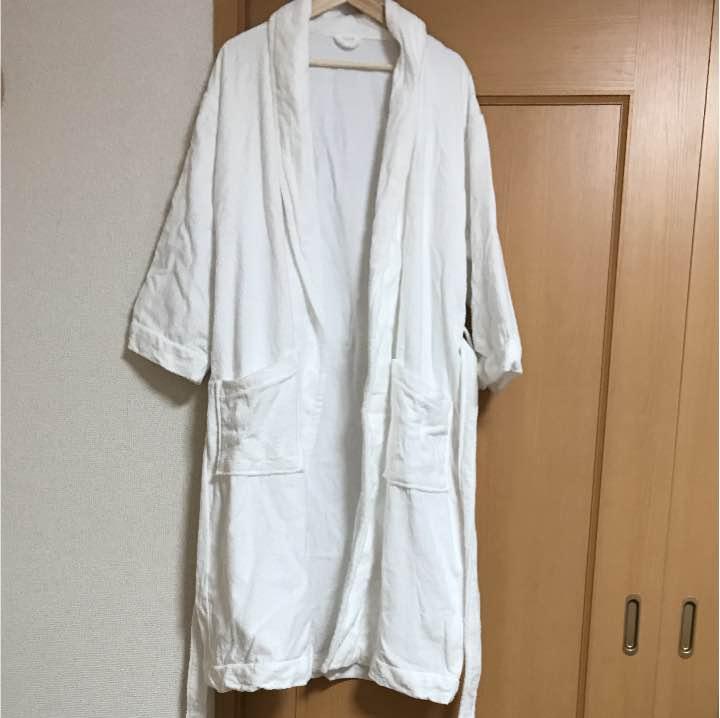 新品 バスローブ 男女兼用 Lサイズ オフホワイト オーガニックコットン混 綿100% やわらか 無印良品 訳あり
