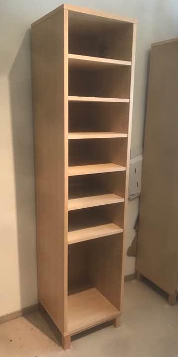 無印本棚 木製収納 ミドルタイプ・スリム・奥行40cm・タモ材