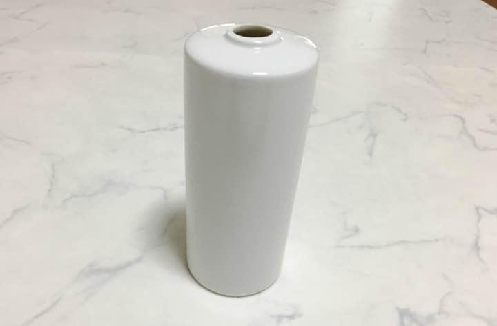花瓶 白 陶器 無地 筒型 一輪挿し インテリア 無印良品