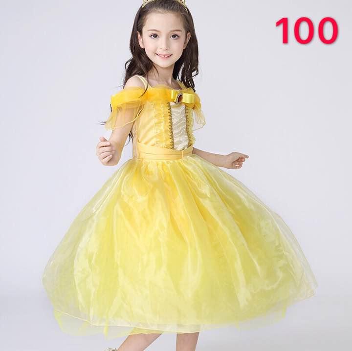 d4c5343d1a15f メルカリ - 新品 キッズ 女の子 プリンセス ドレス 100 ベル風ワンピース ...