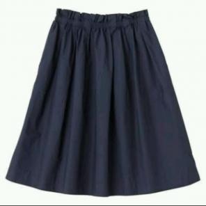 無印良品☆オーガニックコットンチノバルーンスカート