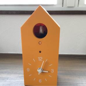 鳩時計・大 掛置時計・グリーン 無印良品