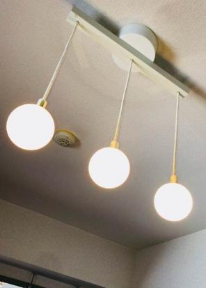 【無印良品】 LEDシリコーンペンダントライト・3灯 ランプ(照明)