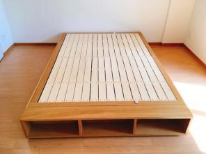 取りに来られる方限定:無印良品収納ベッドシングルオーク材追加台