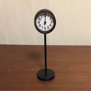 新品 無印良品 公園の時計・ミニ・ブラック