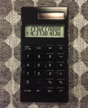 電卓ごとのキーの表記例