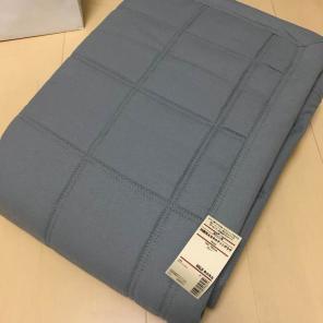 無印良品 綿平織洗えるキルティングラグ/ブラウン 195x195cm