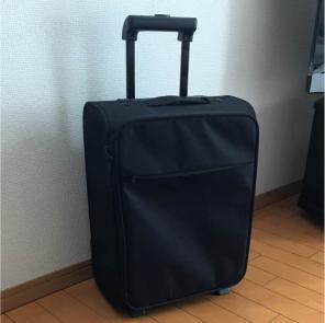 大渕愛子さんは、使い勝手抜群のキャリーケースを