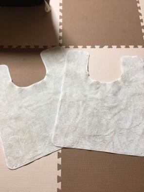 ニトリの珪藻土バスマット洗濯物が減り、洗面所がすっきりした感じ