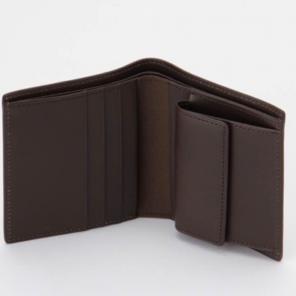 新品未使用 無印良品 ヌメ革 二つ折り財布 ダークブラウン