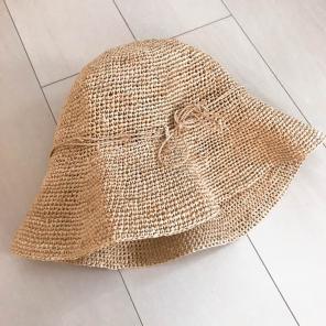 無印良品の麦わら帽子