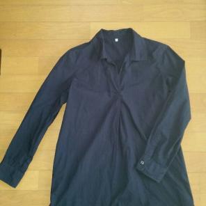 無印良品 オーガニックコットン洗いざらしブロードシャツ 白 Sサイズ